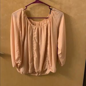 Blush colored blouse